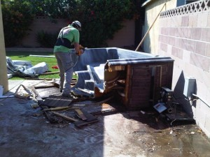 call crew hot tub removal recycling for pro
