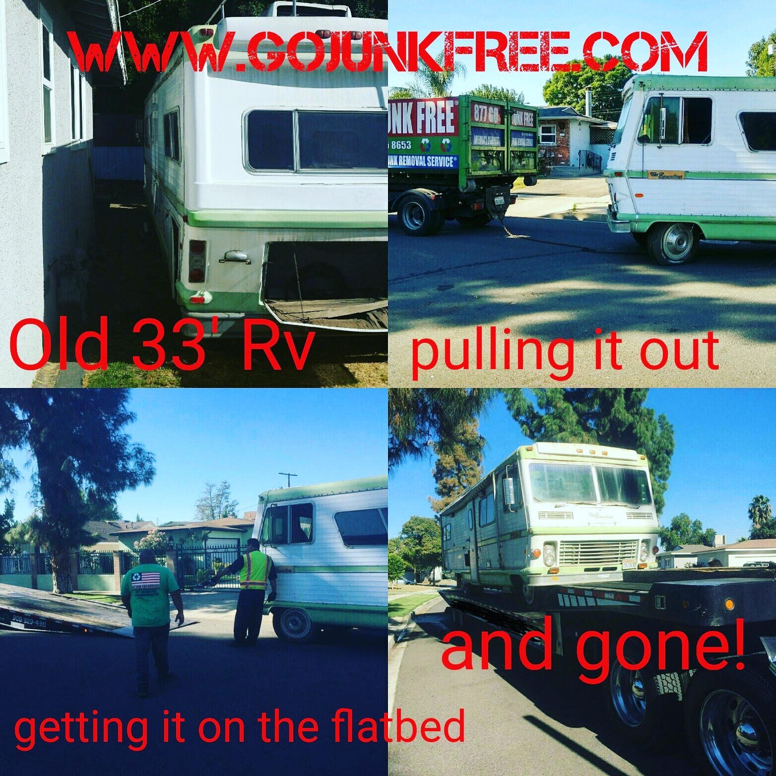 Los Angeles RV and Motorhome Removal | Go Junk Free America
